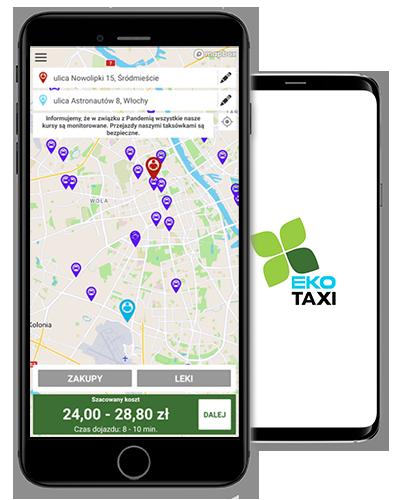 Aplikacja mobilna Eko Taxi